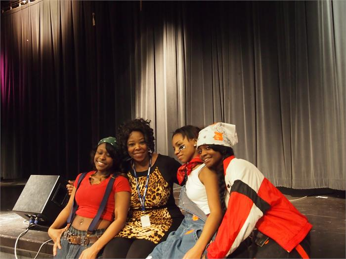 Ms. Mathis and TLC (B. Semons, M. Harris, and J. Kimble)